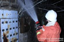 Fire in Ashtarak town