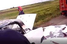 На автодороге Масис-Норамарг сгорел автомобиль