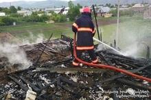 Пожар в селе Ахурян: пострадавших нет