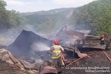 Fire in Kapan town