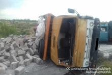 Trucks collided