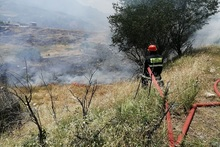 Firefighters extinguished fires broken out in grasslands with a total area of about 23.6 ha