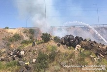 About 15 hectares of grassland burnt in the middle of Baghramyan and Sasunik villages