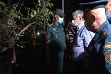 Հրշեջ-փրկարարները մարել են Մարզահամերգային համալիրի տարածքում բռնկված խոշոր հրդեհը. դեպքի վայրում է գտնվել ԱԻ Նախարար Ֆելիքս Ցոլակյանը