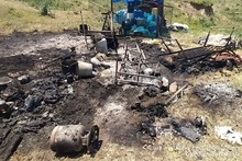 Wooden lodge burnt: there was a victim
