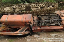 """""""DT-75"""" caterpillar tractor overturned: there was a victim"""