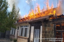 Fire in Gyumri town