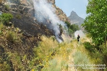 Firefighters extinguished fires broken out in grasslands with a total area of about 3․1 ha