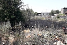 Fire broken out in Burastan village was extinguished
