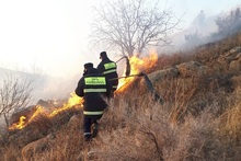 Firefighters extinguished fires broken out in grasslands with a total area of about 26.6 ha