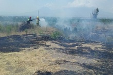 Firefighters extinguished fires broken out in grasslands with a total area of about 68.6 ha