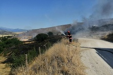 Firefighters extinguished fires broken out in grasslands with a total area of about 21 ha
