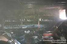 Сгорели деревянный потолок и бытовые предметы