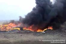 Пожар в квартале Мушаван
