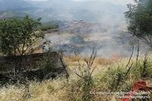 Возле села Ачанан сгорел растительный покров