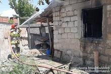 Пожар в селе Арарат: пострадавших нет