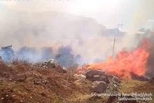 В городе Капан сгорело около 30 га травяного покрова