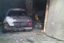 Fire in a car