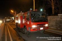 Пожар в городе Горис