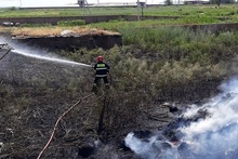 Firefighters extinguished fires broken out in grasslands with a total area of about 14.5 ha