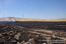 About 15 hectares of grassland burnt