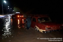 Rescuers brought the cars out of the blockage