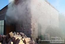 Пожар, вспыхнувший в селе Азатан, потушен