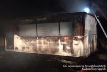 Сгорел неэксплуатируемый вагон-дом
