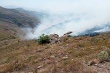 Բարձրունի գյուղի մոտակայքում այրվել է խոտածածկ տարածք