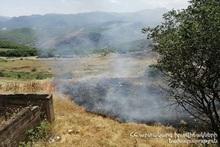 Пожар на автодороге Масис-Ранчпар
