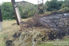 В квартале Мушаван сгорело около 10 га травяного покрова