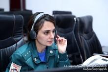 ДТП на автодороги Ереван-Шоржа: спасатели осуществляющие дежурство подошли на помощь