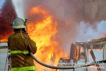Пожар в селе Зовуни
