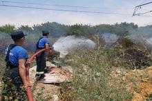 Նուբարաշեն վարչական շրջանում այրվել է մոտ 10 հա խոտածածկույթ