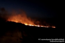 About 16 hectares of grassland burnt in Etchmiatsin town