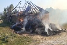 Fire in Megrashen village: 600 bales of hay burnt