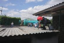 Այրվել են բենզալցակայանի պահեստի տանիքի փայտյա կառուցատարրերը