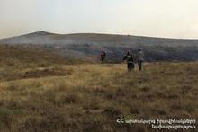 About 30 hectares of grassland burnt in Yervandashat village
