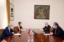 ԱԻ նախարար Ֆելիքս Ցոլակյանն ընդունեց Հայաստանում Վրաստանի արտակարգ և լիազոր դեսպան Գիորգի Սագանելիձեին