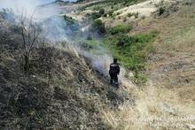 Fire in Ararat village: 10 hectares of grassland burnt