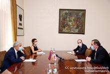 Министр по ЧС Феликс Цолакян принял чрезвычайного и полномочного посла Грузии в Армении Гиоргия Саганелидзе