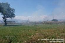 За неделю было зарегистрировано 83 пожара на травяных участках Еревана и регионов РА