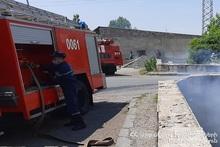 Fire in Sverdlov village