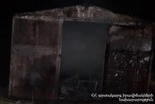 Fire in a trailer-home