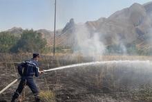 Пожарные-спасатели потушили пожары на территории общей площадью 9.5 га