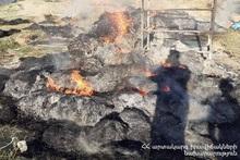 Пожар в селе Нарек