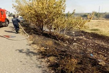 Firefighters extinguished fires broken out in the area of about 9.09 հa in total