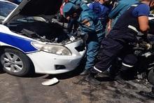 Դավիթ Անհաղթի փողոցում բախվել են երեք ավտոմեքենա, կան տուժածներ
