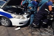 На улице Д. Анахта столкнулись три автомобиля: есть пострадавшие