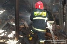 Fire in Geghadzor village